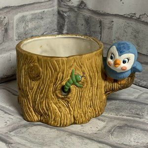 Bluebird X Worm Tree Planter Anthropomorphic